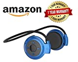 #4: Rewy Mini 503 Universal Wireless Bluetooth Headphone Support SD Card Upto 16GB with Built-in Microphone & TF Cart Slot for All Android, iOS and Windows Devices {Assorted Colour}