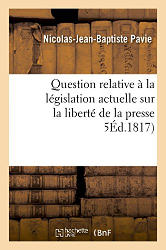 Question relative à la législation act...