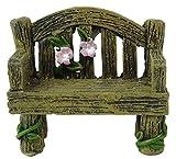Fairyland Jardín de Hadas Miniature Banco de Madera - Accesorios de Jardín de Hadas