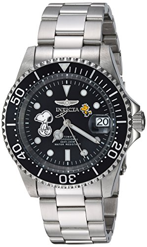 Invicta 24785 Character - Snoopy Reloj Unisex acero inoxidable Automático Esfera negro