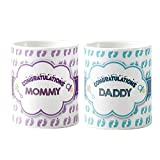 Best Gifts New Moms - Designer panda, Congratulations Mommy Daddy Couple Mug Set Review