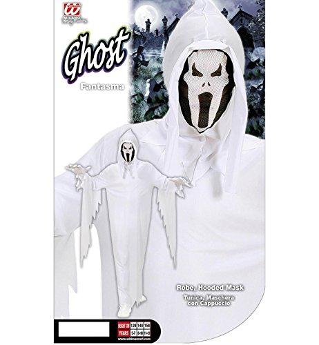 Imagen de widmann 02537   disfraz infantil de fantasma con capa y máscara, talla 140  alternativa