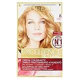 l'Oréal Paris Excellence Crema Colorante Triplo Trattamento Avanzato, 8 Biondo Chiaro - 1 Pacco