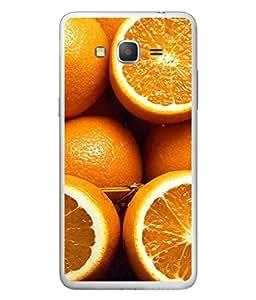 PrintVisa Designer Back Case Cover for Samsung Galaxy Grand Max (Orange juicy tasty delicious oranges)