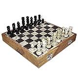 Indian Game Chess im Set aus Holz und Marmor 25.40
