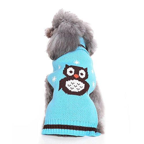 S-Lifeeling Cute Eule Dog Pullover Urlaub Halloween Weihnachten Haustier Kleidung Angenehm Weiches Hund Kleidung, M