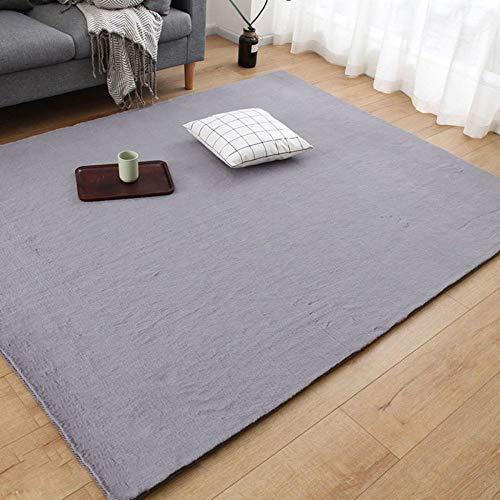 ecke Couchtisch Einfache Moderne Zimmer Kopfbedeckung Nachahmung Kaninchen Pelz Dick Plüsch Teppich Schlafzimmer,Darkgray-120 * 180cm ()