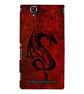 Dragon Hard Polycarbonate Designer Back Case Cover for Sony Xperia T2 Ultra :: Sony Xperia T2 Ultra Dual SIM D5322 :: Sony Xperia T2 Ultra XM50h