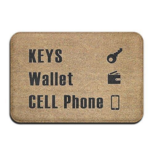False warm warm Keys Wallet Cell Phone Super Absorbent Anti-Slip Mat Indoor/Outdoor Decor Rug Doormat 23.6 X 15.7 Inch Home Decor (Braves Wallet)