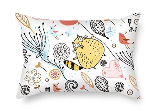 artistdecor Katze Weihnachten Kissenbezüge 40,6x 61cm/40von 60cm Geschenk oder Decor für Boden Kinder Jungen Sofa Boden Esszimmer Erwachsene–Zwei Seiten