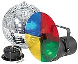 Discokugel Spiegelkugel Set mit PAR Spot Strahler + Motor Beamz