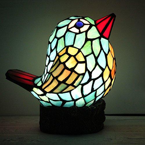 WCS Art-europäisches kreatives blaues Vogel-Tabellen-Lampen-Kinderlampen-Nachtlicht -