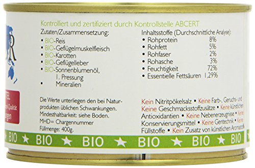 Biopur Bio Diätfutter Haut- und Fellerkrankungen 400g, 6er Pack (6 x 400 g) - 4