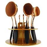 erthome 10 Loch Oval Make-up Pinsel Halter Wäscheständer Organizer Kosmetik Regal Werkzeug