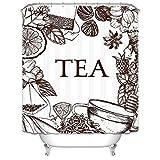 CQSMOO Stoff Duschvorhang Europäischen weißen Tee Polyester wasserdicht mehltau Badezimmer verdickung partition Vorhang (größe: 180 cm * 180 cm) by (Größe : 180cm*180cm)