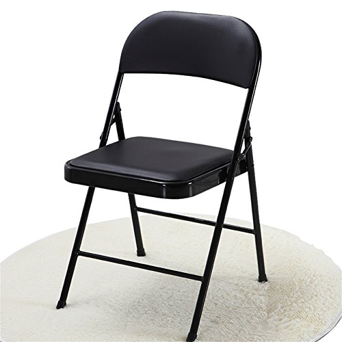 Jl sedia da casa nera pieghevole sedia da ufficio in finta pelle pad sedia da pranzo sedia mobili tavolo e sedie sedia da conferenza lounge chair a+