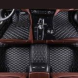 Zmkar Auto Fußmatten Automatte für Porsche Cayenne 2011-2017 Rutschfeste Wasserdicht Umweltfreundliche Materialien Fußmatten Maßgefertigt (schwarz mit schwarz Nähten, Linkslenker)