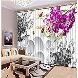 WKJHDFGB Fabrik Diret Mode 3D Vorhänge Blume 3D Fenster Vorhänge Für Bettwäsche Zimmer Büro Hotel Decorateh Rideaux Benutzerdefinierte Jede Größe 215X200Cm