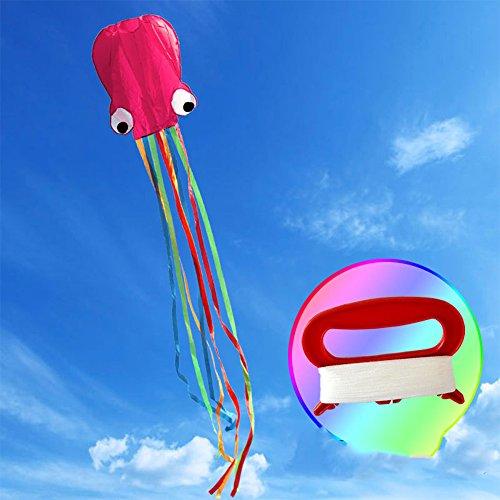 Kite Cometa Deportes al aire libre Cometa de truco de con manija y bolsa de almacenamiento para niños adultos velas perfectas para niños, fácil de volar – liviano y estable