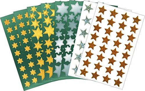 AVERY Zweckform 59816 Sticker Set Weihnachten Sterne (Vorteils-Pack) 350 Aufkleber