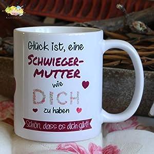 Kaffeebecher ~ Tasse - Glück ist eine Schwiegermutter wie dich zu haben~ Weihnachten Geschenk