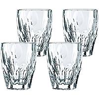 Whisky Spirits - Juego de 4 tazas de agua de cristal sin plomo