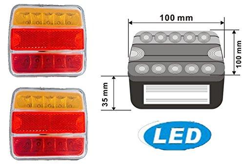 Preisvergleich Produktbild 2x 5 Funktionen LED Anhängerbeleuchtung Anhänger Rückleuchten Rücklicht 14 LED`s Universal (LED)