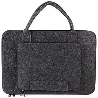 Anladia 43,9cm Laptop Sleeve Filz Tasche Notebook Tasche Computer Tragetasche Ultrabook Tablet Aktentasche für 43,9cm Acer/ASUS/Dell/Lenovo/HP–Dunkelgrau