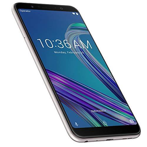 Asus Zenfone Max Pro M1 32Go Smartphone portable débloqué 4G (Ecran: 5,99 pouces - 32Go - Double Nano-SIM - Android) Meteor Silver (Argent)