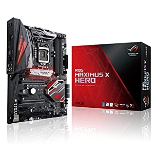 Asus ROG Maximus X Hero Gaming Mainboard Sockel 1151 (ATX, Intel Z370, Coffeelake, 4x DDR4-Speicher, USB 3.0, M.2 Schnittstelle)