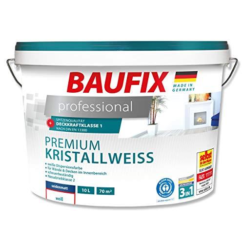 BAUFIX  professional Premium Kristallweiß Wand- & Deckenfarbe Weiß