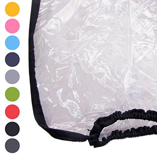BAMBINIWELT Regenschutz, Regenhaube für Kinderfahrradsitze, Wetterschutz für Fahrrad-Kindersitze (schwarz)