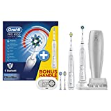 Oral-B SmartSeries Elektrische Zahnbürste Pro 6500, mit 2. Handstück, Bluetooth, Timer, CrossAction, Sensitiv und 3DWhite Aufsteckbürsten