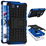 ONEFLOW Sony Xperia Z3 Compact | Hülle Silikon Hard-Case Blau Outdoor Back-Cover Extrem Stoßfest Schutzhülle Grip Handyhülle für Sony Xperia Z3 Compact / Z3 Mini Case Rückseite Tasche