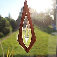 Fenster Deko zum Aufhängen aus Holz   Pendel mit Bleikristall   Olivenholz Deko   Regenbogenkristall   Sonnenfänger   Fensterdeko