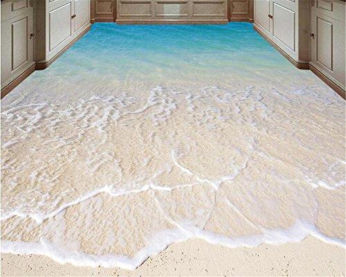 Jonp Fashion Personality Advanced Decorative Painting 3D Wallpaper Mural Sticker 3D Bathroom Beach Floor Painting 3D