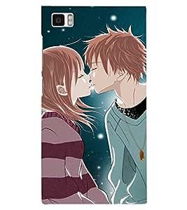 PRINTSHOPPII LOVE COUPLE Back Case Cover for Xiaomi Redmi Mi3::Xiaomi Mi 3