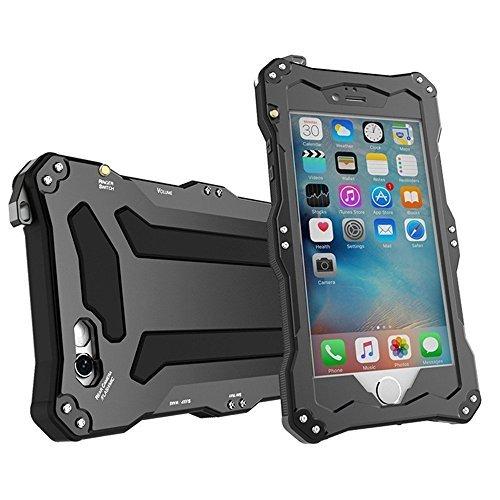 Feitenn iPhone SE Fall, Wasserdicht Stoßfest Staubdicht Armor Aluminium Metall Gorilla Glas militärische Heavy Schutz Bumper Schutzhülle für iPhone 5s SE, schwarz - Otterbox Fälle 5s Iphone