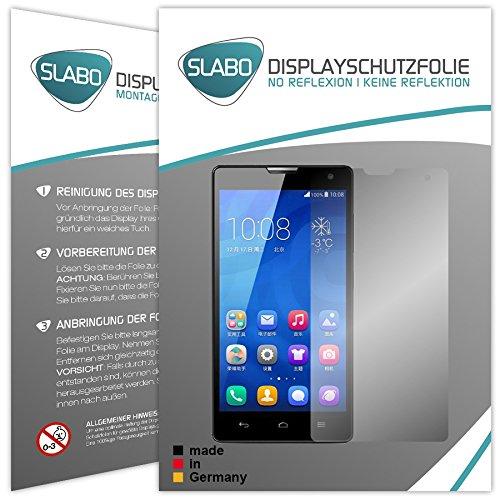 2 x Slabo Bildschirmschutzfolie Huawei Honor 3C Bildschirmschutz Schutzfolie Folie
