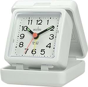 Acctim 13442 Journey Alarm Clock, White