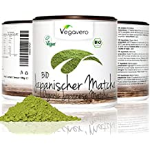 Bio té verde Matcha Japonés | Calidad Premium | NOVEDAD AHORA TAMBIÉN 200 g | 100 g o 200g polvo puro | Envase con tapa | Grado Ceremonial | tea orgánico ecológico Matcha Latte Vegavero