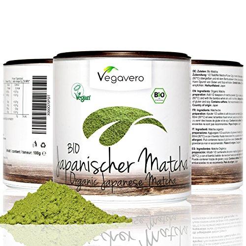 Vegavero Bio Matcha Tè dal Giappone 100 g | tè verde – Matcha di qualità premium | confezione salva-aroma | vegan