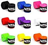 MTG Pro Handbandagen Teilelastisch 5m lang - Extralange Boxbandagen MMA Thai Boxen Kickboxen Bandage Wickelbandagen (Grau)