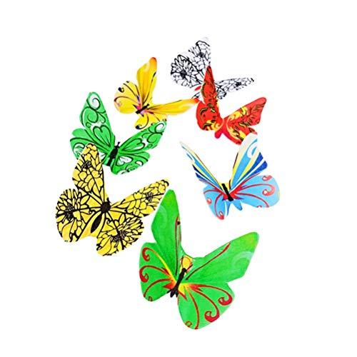 BESTonZON 438 Stück Schmetterling Kuchen Topper Oblatenpapier Schmetterlinge Kuchen Dekoration Cupcake Topper für Hochzeitstorten Desserts (Hochzeitstorte Topper Schmetterling)