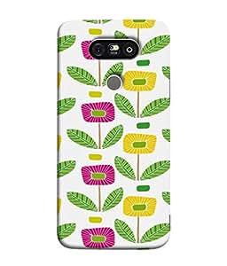 PrintVisa Designer Back Case Cover for LG G5 :: LG G5 Dual H860N :: LG G5 Speed H858 H850 VS987 H820 LS992 H830 US992 (Flower Print Traditional Weaving Sunflower Multi Colour)