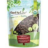 Food to Live Pasas sin semillas Thompson de California orgánicas (secado al sol, no OMG) 453 gramos