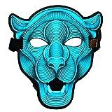 ShiyiUP Led Halloween Máscara Luminosa de Mascarada Gente y Animales Control de Voz