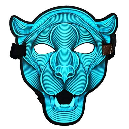 ShiyiUP LED Maske Leuchtend Maske Cosplay Party Karneval Kostüm Zubehör, O (Erstaunliche Tanz Kostüm)