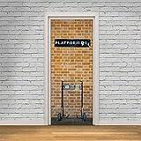 libby-nice Plate-Forme 9 3/4 Stickers Muraux DIY Murale Décor À La Maison Affiche PVC Étanche Porte Autocollant Imitation