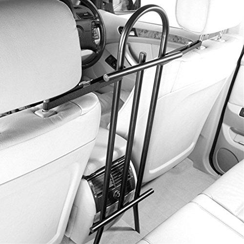 Generic Einstellbare Passform, kleine Autos und Kombi Universal Front Seat Pet Barrier Durable Edelstahl Innen Hundegitter für Auto Kombi Schrägheck 4x 4Farbe: Schwarz < 1& 1445* 1>